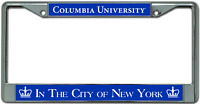 Columbia University License Plate Frame