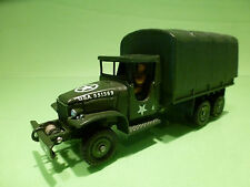 DINKY TOYS 809 GMC TRUCK USA ARMY  1:43 -  RESTAURATION CODE 3 - VERY GOOD