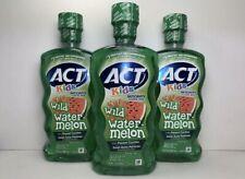 3 Act Kids Anticavity Fluoride Rinse ~ WATERMELON 16.9 oz each