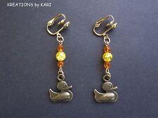 Clip-On Style - Duck Dangle Earrings - #Cs6361