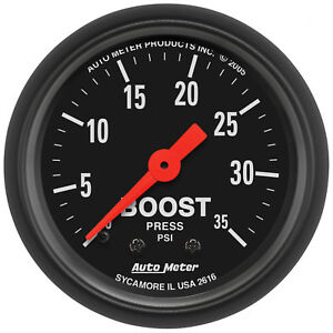 Autometer 2616 Z-Series Boost pressure Gauge, 2-1/16 in., Mechanical