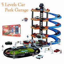 Children's garage 5 niveaux de parking garage kids play set 4 voitures + 1 elicopter