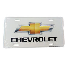 CHEVROLET GOLD BOW TIE Metal  white metal License Plate Sign Tag