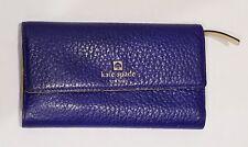 Kate Spade Southport Avenue Sandra Blue Pebbled Leather Wallet Clutch
