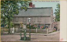 Exterior Street View Old Witch House Salem Massachusetts MA Postcard B3