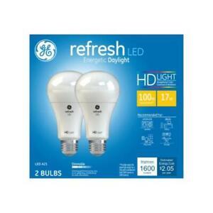 Refresh HD LED Light Bulbs, Daylight, 1600 Lumens, 17-Watts, 2-Pk.