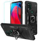 For Motorola Moto G Stylus 5G/4G 2021 Shockproof Ring Stand Case /Tempered Glass