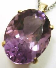 HUGE 100% 9CT SOLID YELLOW GOLD NATURAL 12CT AMETHYST PENDANT syjewellery   P822