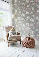 Vlies Tapete Florales Blumen Muster grau rosé rosa creme summer breeze 17883