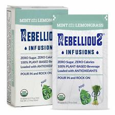 Rebellious    Organic Water Flavor Enhancer    Mint    10 Pack    Brand NEW   