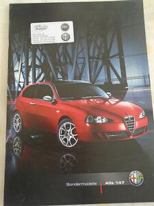 Alfa Romeo 147 Special Editions brochure Aug 2007 German text Collezione