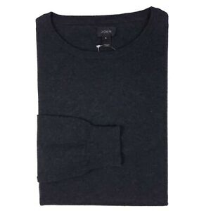 J Crew Small Sweater Gray New Nwt S Mens Charcoal Crewneck Cotton Cashmere Size