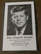 JOHN F. KENNEDY VINTAGE FUNERAL PRAYER CARD