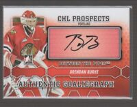 (67720) BRENDAN BURKE 2012-13 BETWEEN THE PIPES CHL PROSPECTS AUTOGRAPH #ABB