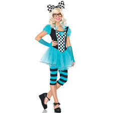 Teen Girls Nerdy Alice Wonderland Costume sz S/M 2-8
