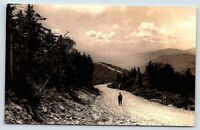 RPPC postcard L.C Linkroum Jr Manchester Vt Equinox Sky Line Drive road on ridge