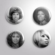 4 FEMALE SINGERS SOUL -  Pinbacks Badge Button 25mm 1''..
