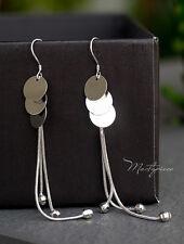 Silver Korea fashion drop earrings - 3P