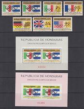 Honduras Sc C429-C435  MNH. 1968 Mexico City Olympics w/ 2 Souvenir Sheets
