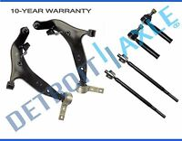 Front lower control arms w/ tie rods for 2004-2009 Nissan Quest 6pc suspension