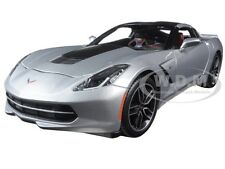 2014 CHEVROLET CORVETTE STINGRAY C7 Z51 SILVER EXCLUSIVE ED. 1/18 MAISTO 38132