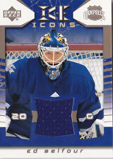 03-04 Upper Deck Ed Belfour Jersey Ice Icons Maple Leafs 2003