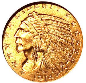 1914-S $5 MS61 ANACS - trends $6250