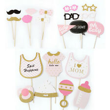20 x Pink Baby Shower Party Foto Verkleidung Schnurrbart Photo Booth Props DIY