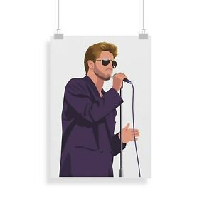 George Michael, Print, Poster, Wall Art, Gifts, Home Decor
