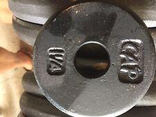 Vintage CAP CAST Iron Weight Plate 1.25lb Dumbbells Barbell Adjustable Standard