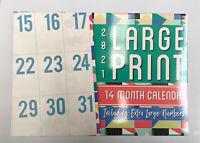2021 Calendar Rectangle Wall Calendar 14 Months - Large Print