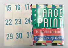 2021 Calendar 14 Months Large Print Wall Planner Organiser Extra Large Numbers