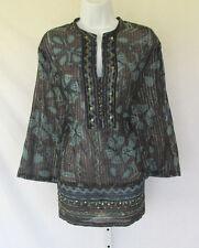 Vintage 1990s Millenium Cotton Sequin Brass Button Top Brocade Thread Size 18/20
