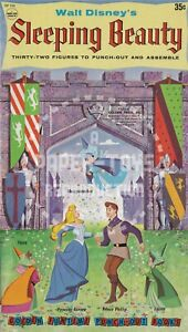VINTAGE REPRINT - 1959 SLEEPING BEAUTY PUNCH-OUT BOOK - REPRODUCTION