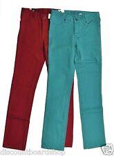 Kr3w CM COLORS Teal Red Four Pocket Twill Denim Skate Surf Moto Men's Jeans