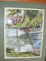 VINTAGE WATERCOLOUR PAINTING BY URSUAL CALVIN THOMAS WELSH ARTIST LANDSCAPE