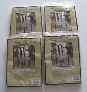 NEW 4 pc set Champagne Seat Protector Saver Chair Covers Paisley Madison OSMF