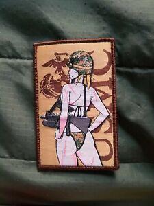 U.S. Military Waifu Force Anime USMC Girl Marines Morale Airsoft Anime War Patch