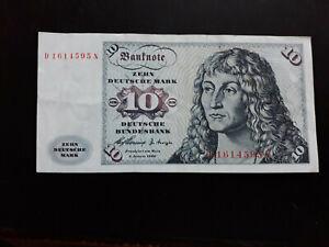 10 DM Deutsche Mark Schein Banknote von 1960 - Serie D...N