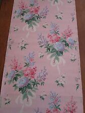 Vintage 40's 50's Roll of Wallpaper Pink Pastels Floral  # 3