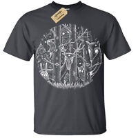 Kids Boys Girls Dark Forest T-Shirt fantasy gothic alice woodland tim burton