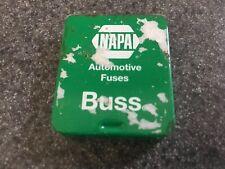 Vintage NAPA 10 Amp Glass Fuses In Original Metal Box