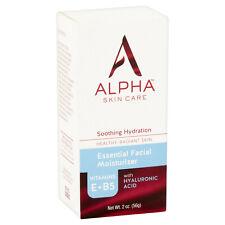 Alpha Skin Care Essential Facial Moisturizer, Hyaluronic Acid, Aloe, Vit B&E 2oz