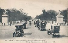 POSTCARD   FRANCE  PARIS  Champs - Elysees Ave  and  the  Marly  horses  LL  353