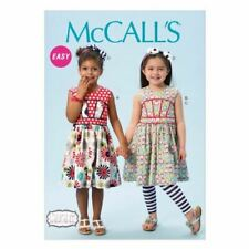 McCall Sewing Pattern M6945 Childs Girls Dresses Leggings Size  6-7-8