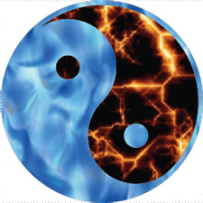 Ying Yang fire and ice decal sticker BOGO 2 for 1
