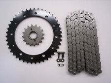 HONDA VFR800 FI INTERCEPTOR SPROCKET & O-RING CHAIN SET 17/43 1998-2001  BLK