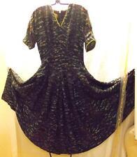 Gorgeous Satin R&K Originals Dress; 1940's Vintage Fall Colors Floral Crown Zip
