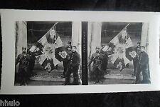 STA538 Soldat drapeau Alleman stereoview Photo 1914 WW1 première guerre mondiale
