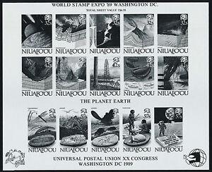 Tonga - Niuafo'ou 123 Proof MNH Nature, UPU, evolution of the Earth